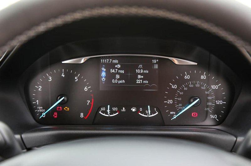 Ford Fiesta interior instrument cluster