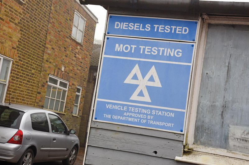 MOT test centre sign