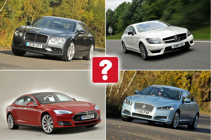 Best used luxury cars collage