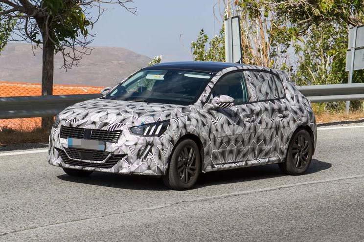2019 Peugeot 208 spy shot
