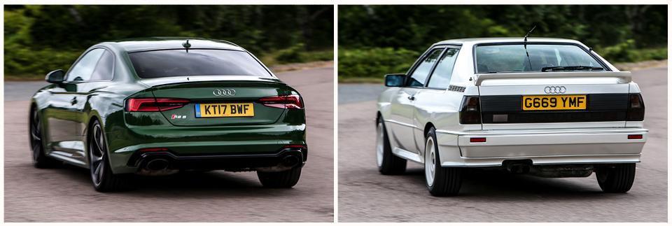 New Audi RS5 vs Audi Quattro