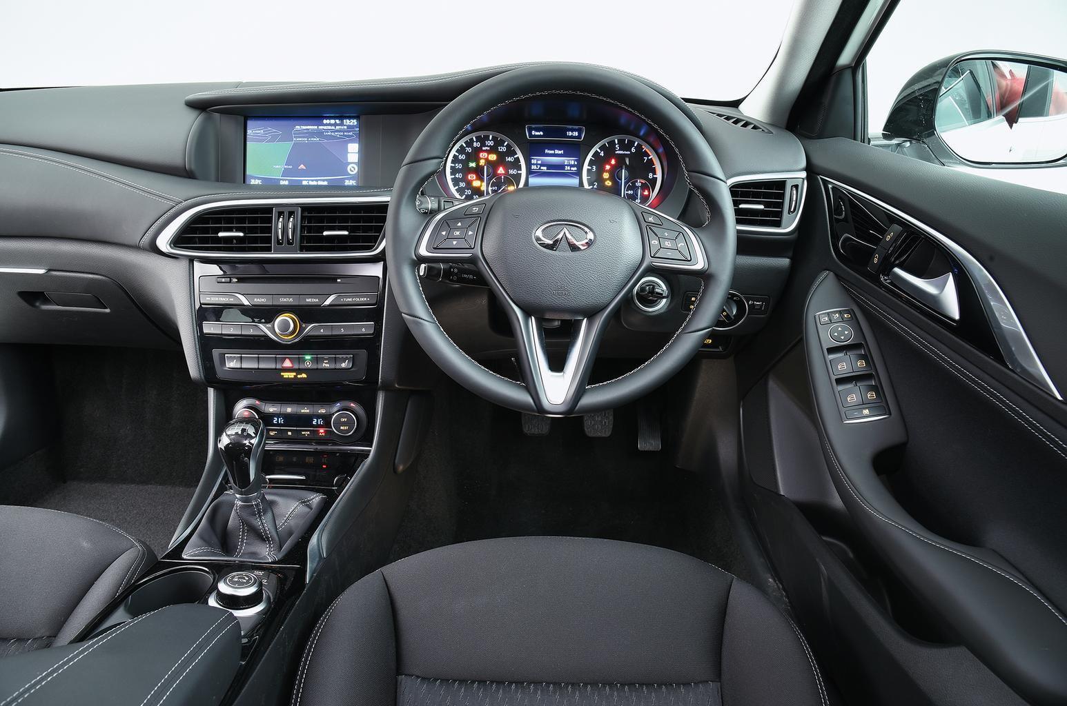 Audi A3 Sportback vs BMW 1 Series vs Infiniti Q30: What are they like inside?