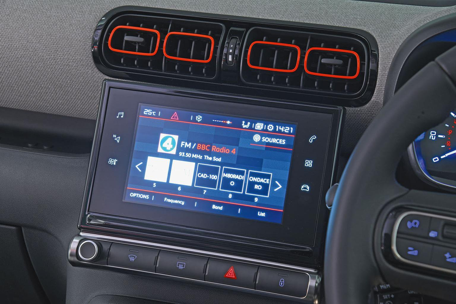 Citroën C3 Aircross infotainment