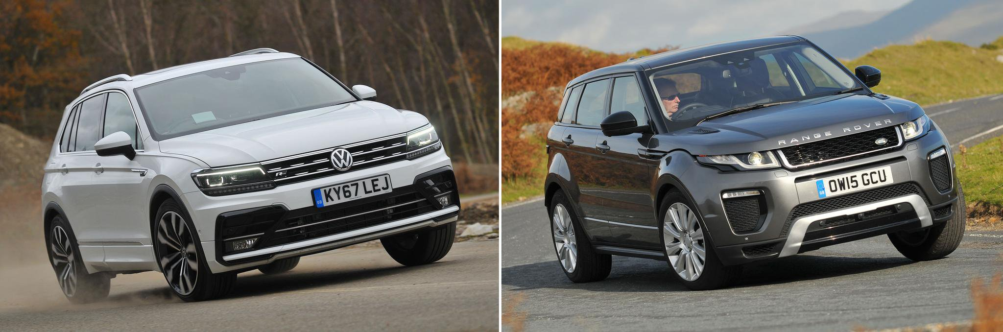 New Volkswagen Tiguan vs used Range Rover Evoque: which is best?