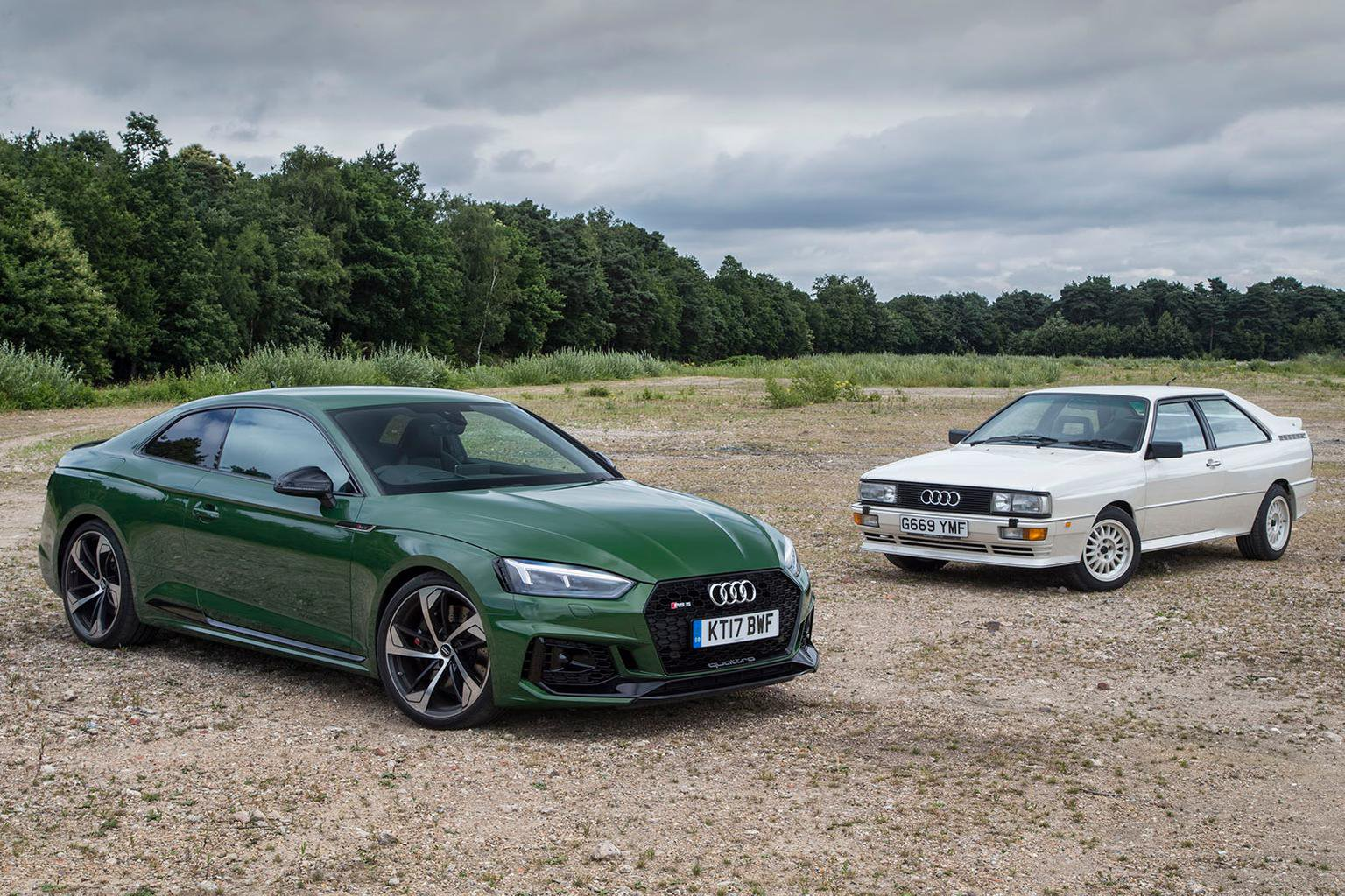 New Audi RS5 vs Audi Quattro