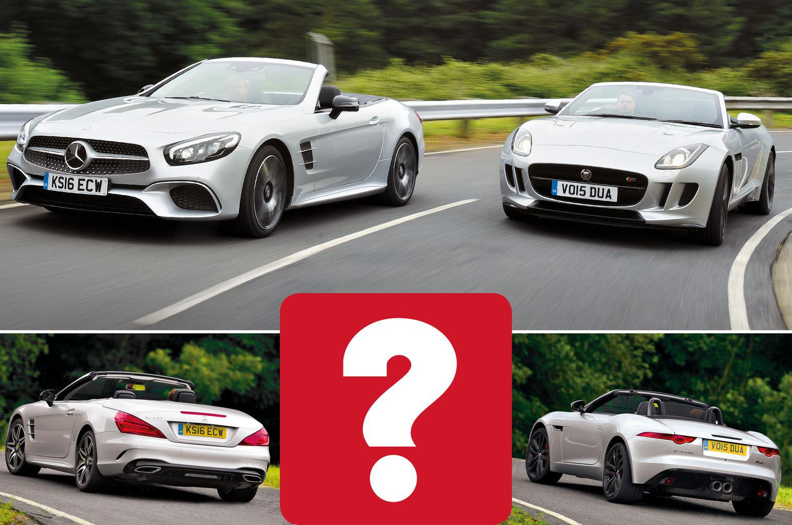 Jaguar F-Type Convertible vs Mercedes SL