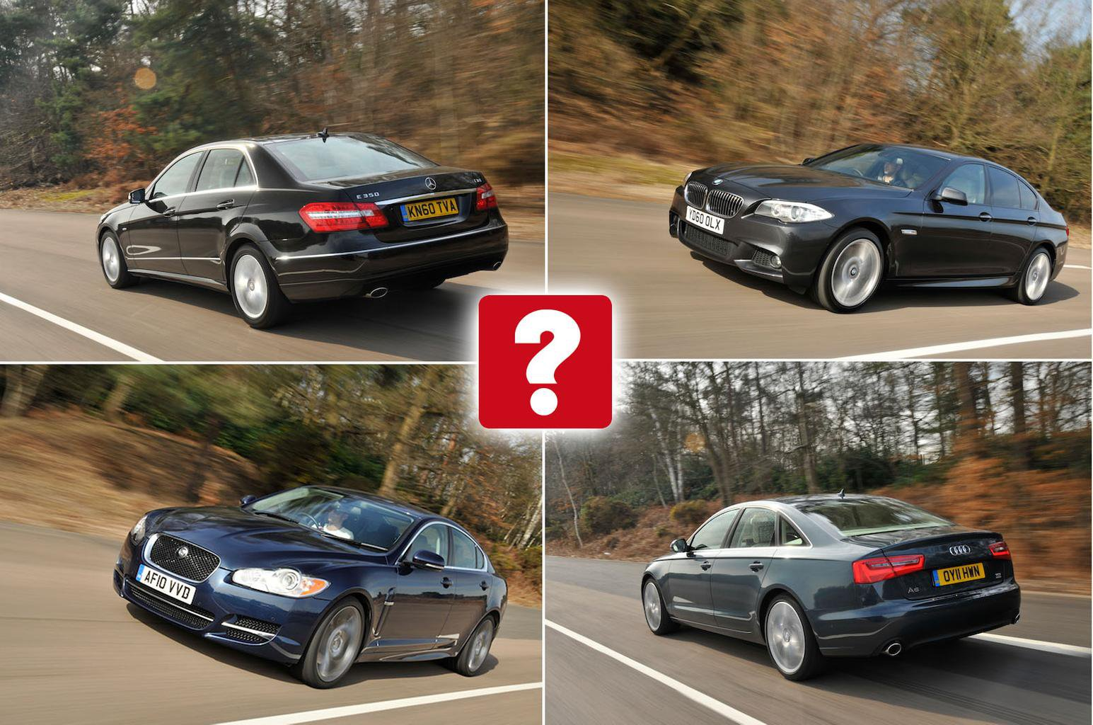 Used test: BMW 5 Series vs Audi A6 vs Mercedes E-Class vs Jaguar XF