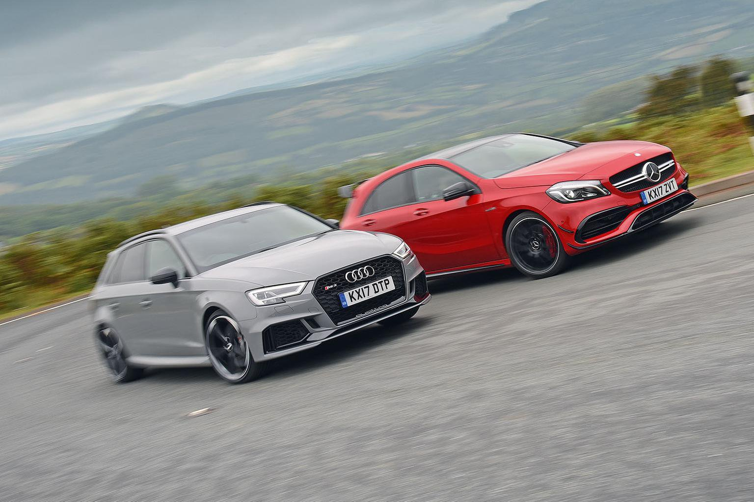 New Audi RS3 Sportback vs Mercedes-AMG A45