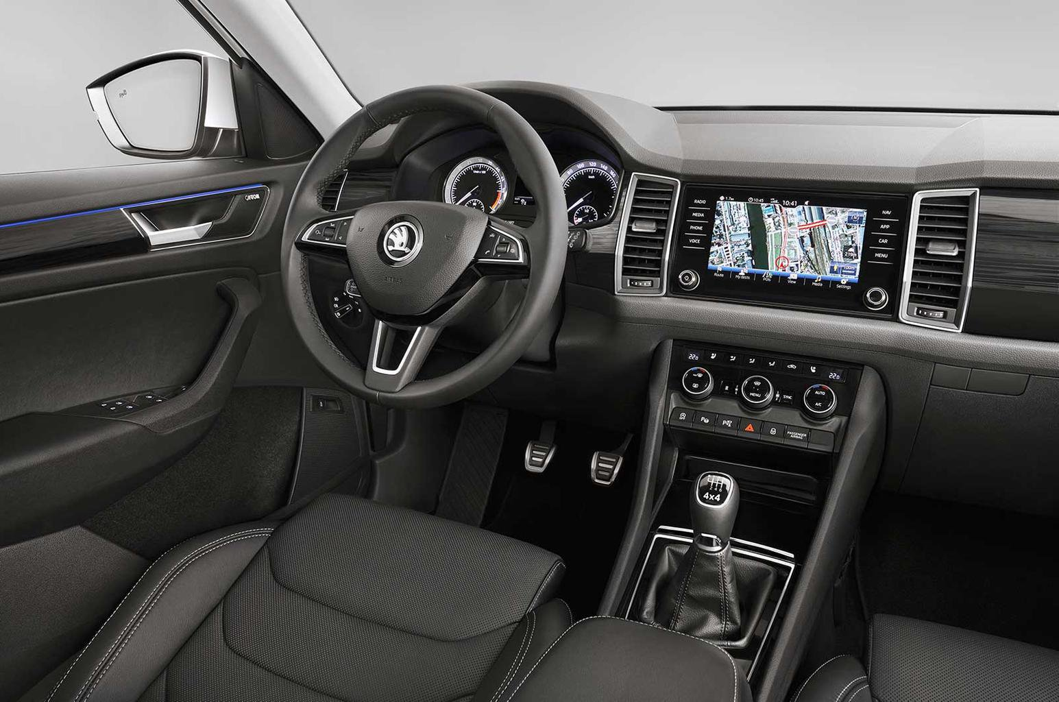 New Skoda Kodiaq - first interior pictures revealed