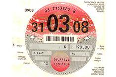 Tax disc query