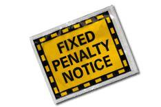 Fixed fines for careless drivers