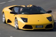 Bridegroom writes off Lamborghini