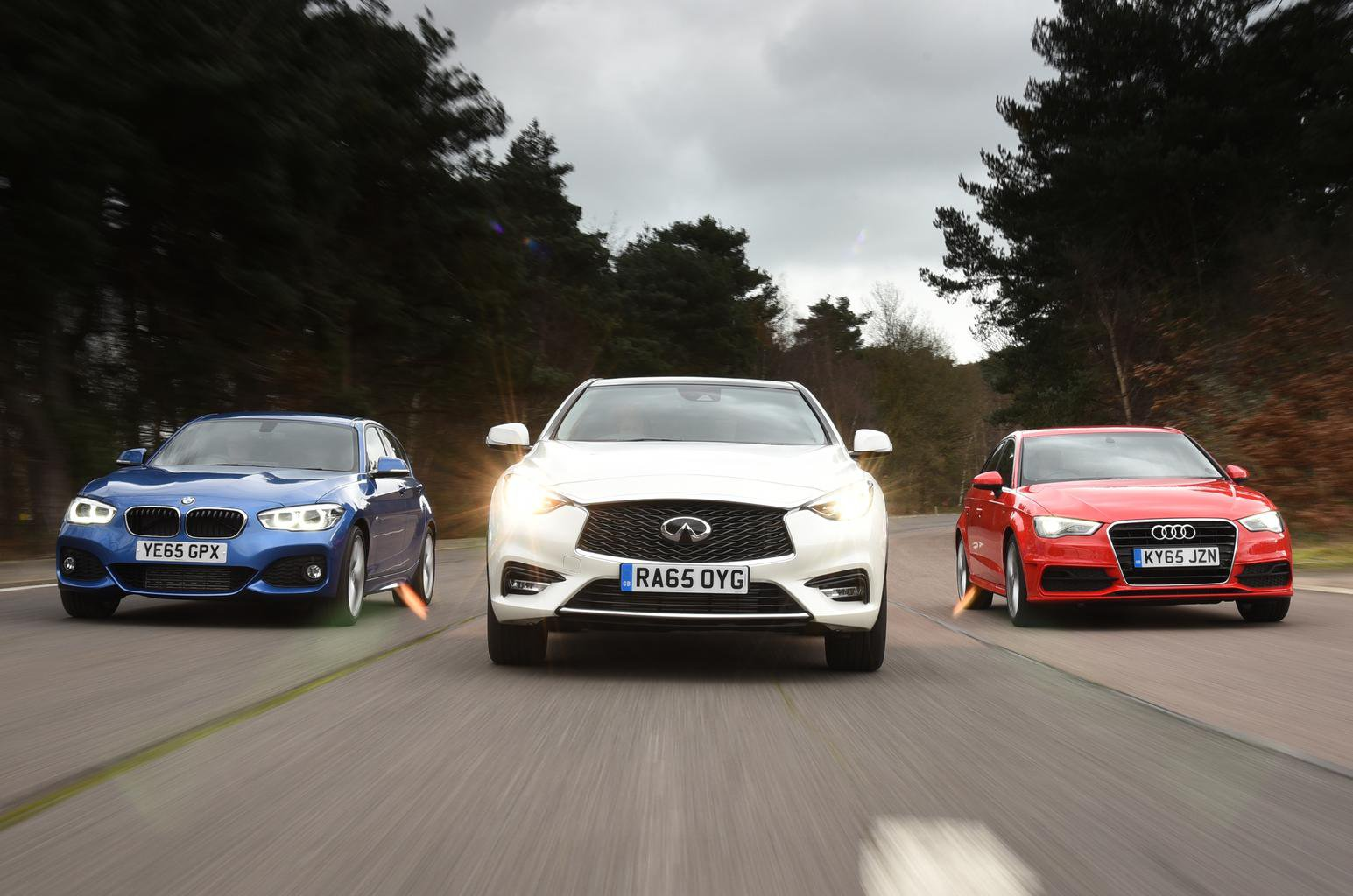 Audi A3 Sportback vs BMW 1 Series vs Infiniti Q30: Verdict