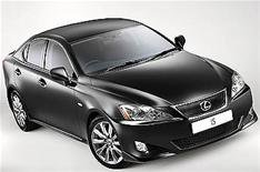 Lexus' sporty IS saloon