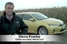 Steve Fowler's Lexus CT200h video blog