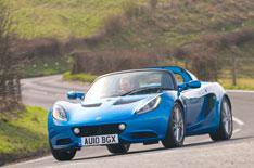 Face-lifted Lotus Elise driven