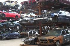 Abandoned car numbers tumble
