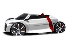 Audi open-top concept car unveiled