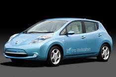 Nissan Leaf electric car on video