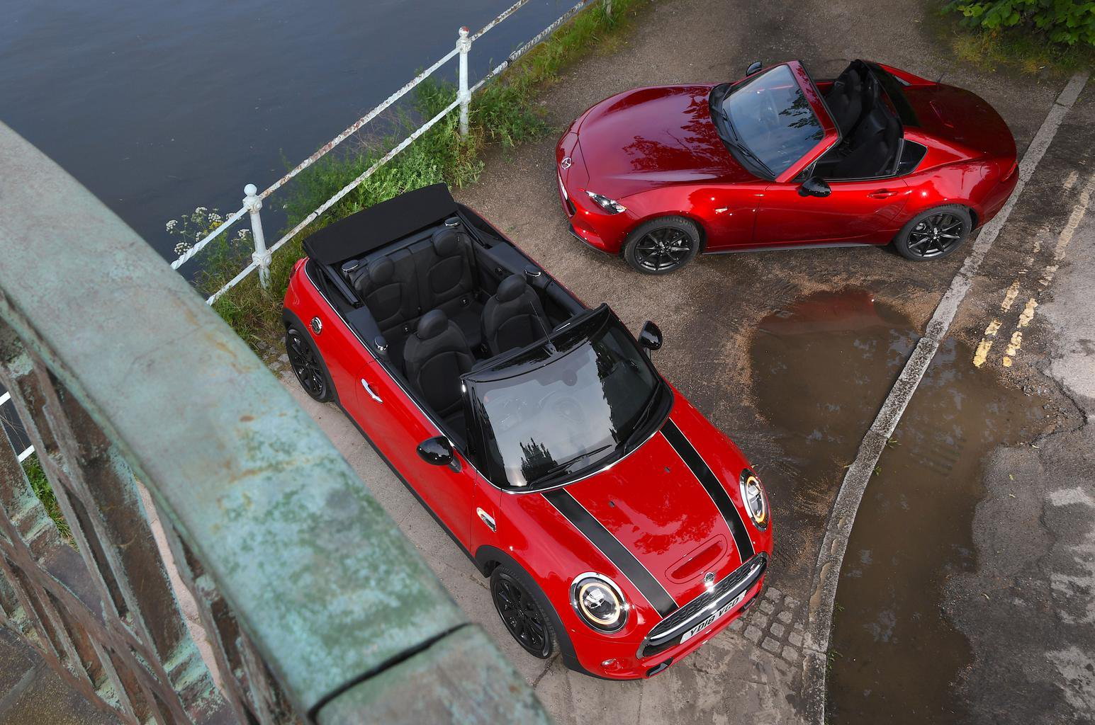 New Mini Convertible vs Mazda MX-5 RF