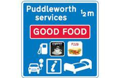 Motorway service station signs to change