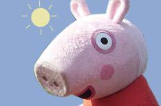 Peppa Pig belts up