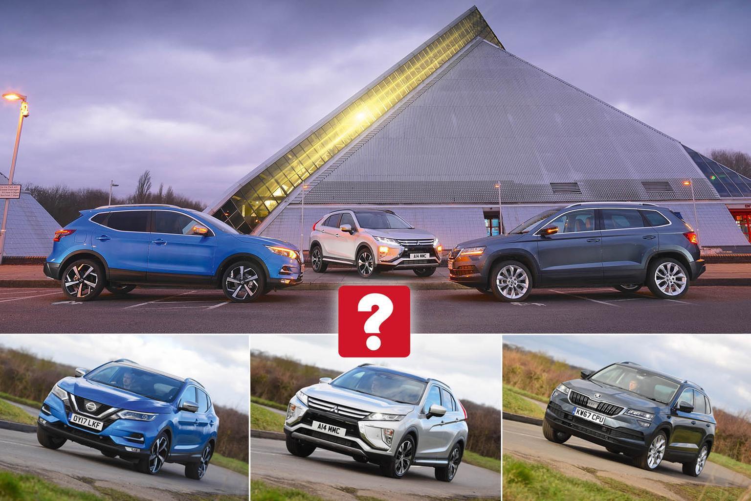 New Mitsubishi Eclipse Cross vs Nissan Qashqai vs Skoda Karoq