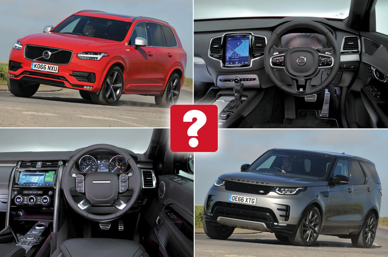 New Volvo Xc90 Vs Used Land Rover Discovery Which Is Best What Car