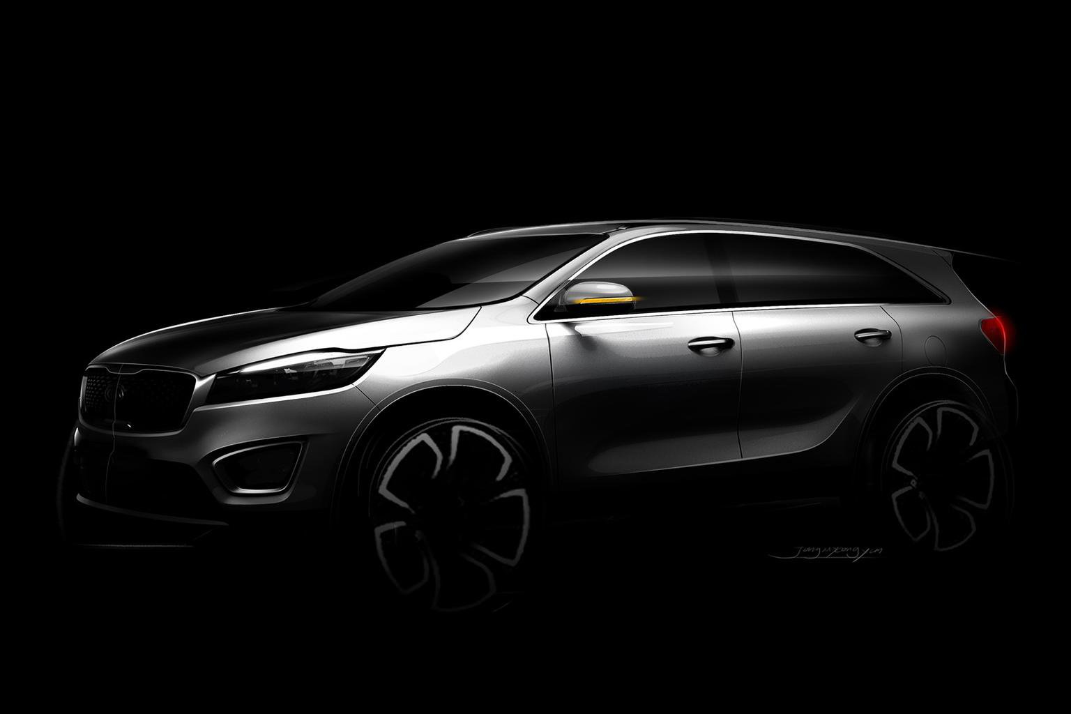 Kia Sorento revealed in early pictures