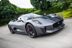 Jaguar C-X75 driven on track