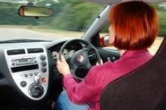 Men scared by women's driving