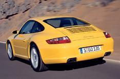 Pensioner rolls into Porsche showroom