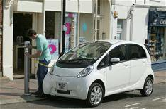 Euro-spec Mitsubishi iMiEV at Paris show
