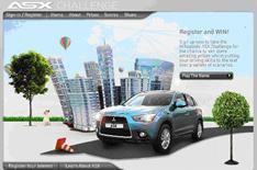 Mitsubishi ASX crossover: win one online