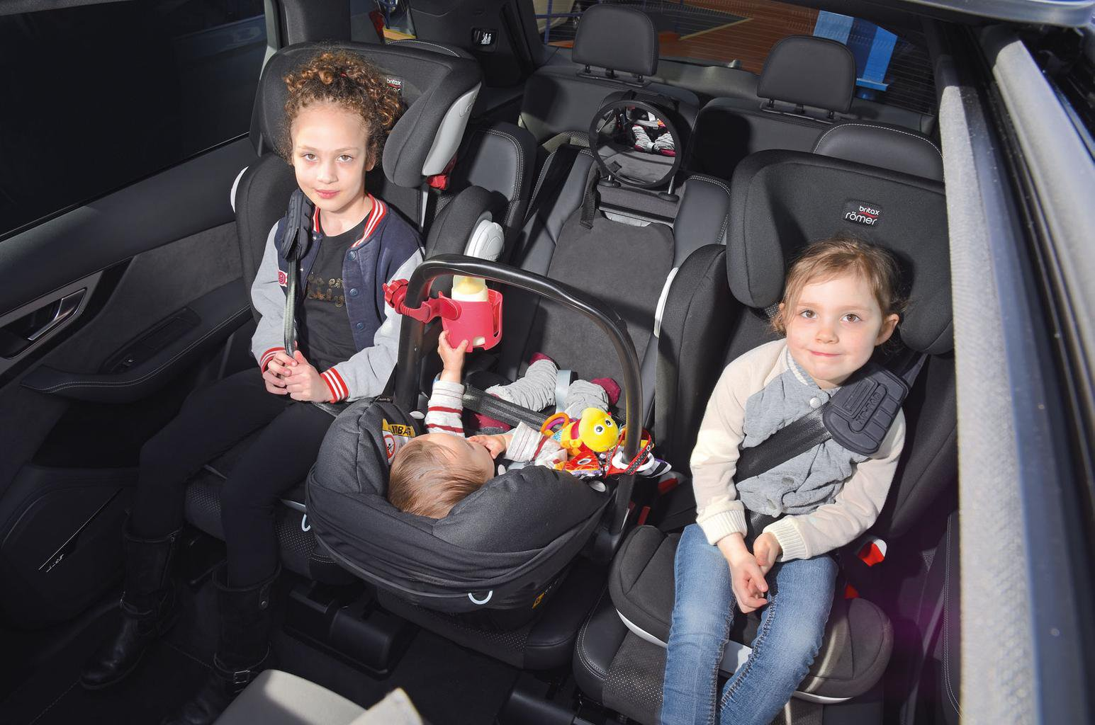 Best cars for three child seats