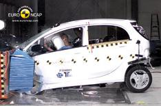 First crash test of an electric car