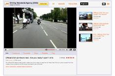 Road safety channel on YouTube