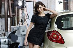 Bond girl's exclusive test drive