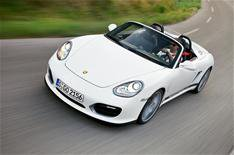 Porsche Boxster stripped for action