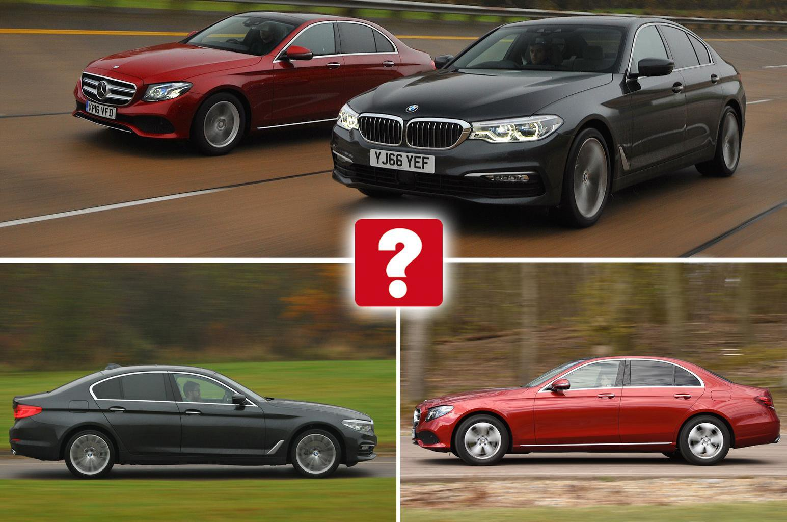 New BMW 5 Series vs Mercedes E-Class