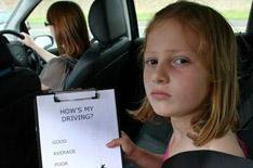Kids embarrassed by parents' cars