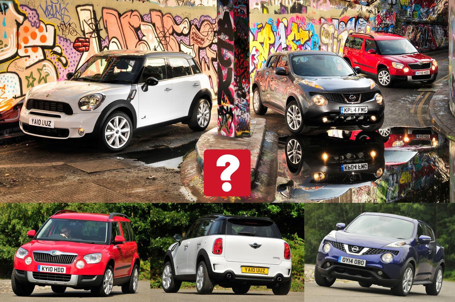 Used test: Mini Countryman vs Nissan Juke vs Skoda Yeti