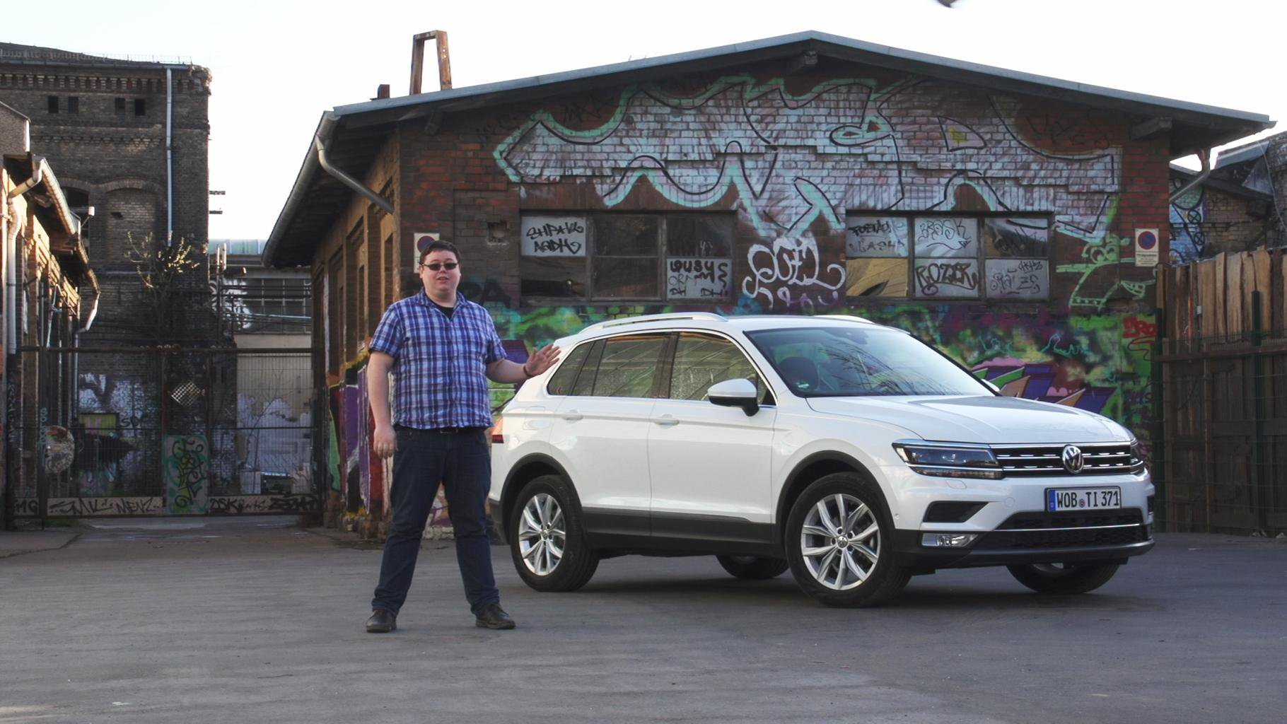 New Volkswagen Tiguan driven on video