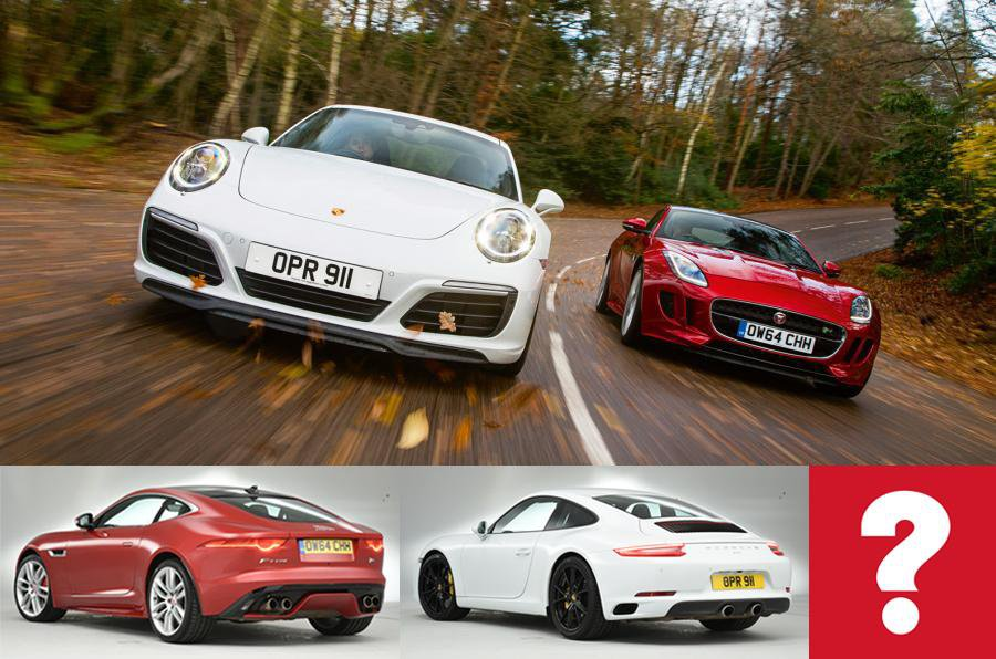 Porsche 911 Carrera S vs Jaguar F-Type R Coupe