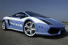 The Lamborghini Gallardo police car