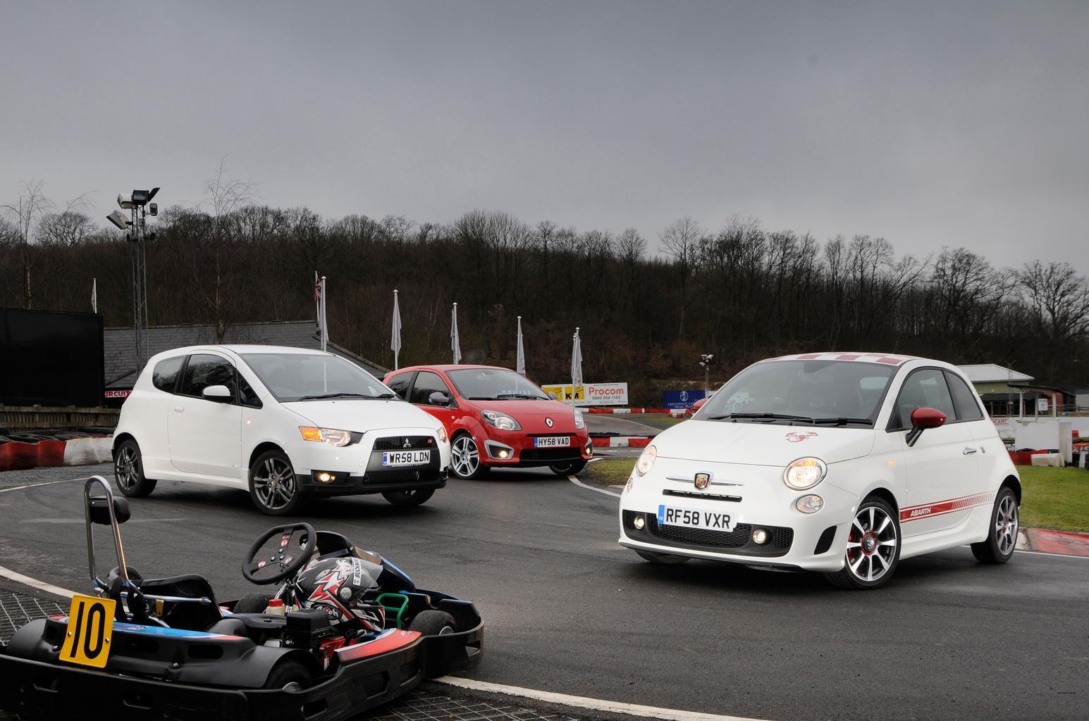 Used test: Renault Twingo Renault Sport vs Fiat 500 Abarth vs Mitsubishi Colt Ralliart