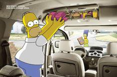 Doh! The Simpsons and Renault team up