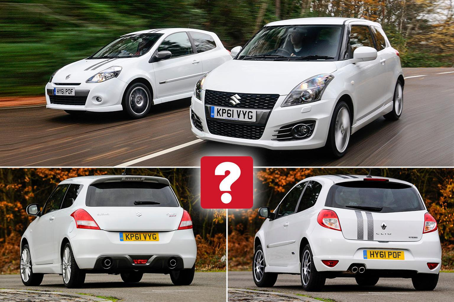 Used Renault Clio Gordini vs Suzuki Swift Sport