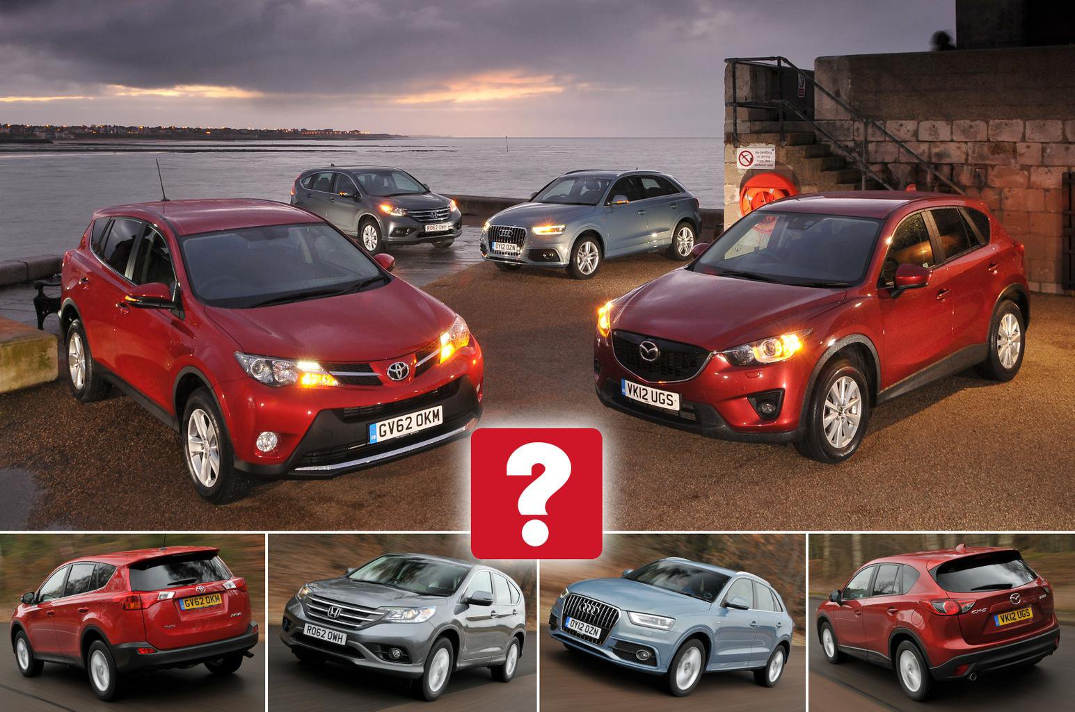 Used Honda CR-V vs Audi Q3 vs Toyota RAV4 vs Mazda CX-5