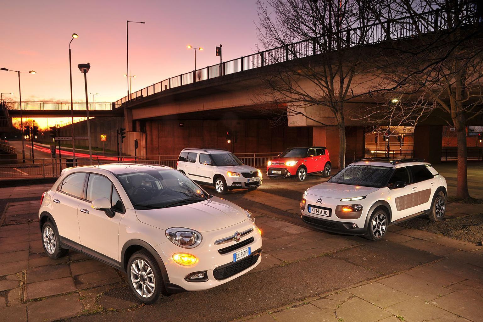 Fiat 500X vs Citroen C4 Cactus vs Kia Soul vs Skoda Yeti